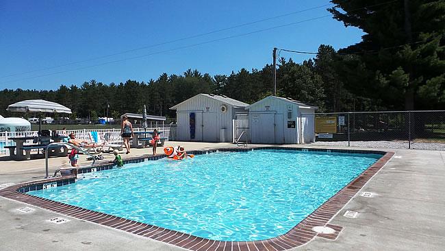 Smaller heated pool